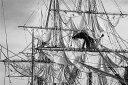 乗り物 のりもの 男の子 ボーイズの壁紙輸入 カスタム壁紙 PHOTOWALL / Sailing Ship - b/w (e19413)貼ってはがせるフリース壁紙(不織布)【海外取り寄せのため1カ月程度でお届け】【代引き不可】