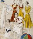 アート 絵画の壁紙輸入 カスタム壁紙 PHOTOWALL / National Magazines - Beach Fashions for 1932 (e10391)貼ってはがせるフリース壁紙(不織布)【海外取り寄せのため1カ月程度でお届け】【代引き不可】