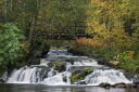 自然 森の壁紙 輸入 カスタム壁紙 PHOTOWALL / Beautiful Lapland Waterfall (e23113) 貼ってはがせるフリース壁紙(不織布) 【海外取り寄せのため1カ月程度でお届け】 【代引き不可】