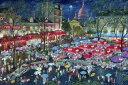 アート 絵画 都市 都会 摩天楼の壁紙カスタム壁紙 輸入壁紙PHOTOWALL / A Night At Montmartre (e22879)貼ってはがせるフリース壁紙(不織布)【海外取り寄せのため1カ月程度でお届け】【今だけ送料無料】【代引き不可】