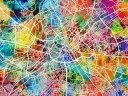 地図 都市の壁紙 輸入 カスタム壁紙 PHOTOWALL / Manchester Street Map Multicolour (e50097) 貼ってはがせるフリース壁紙(不織布) 【海外取り寄せのため1カ月程度でお届け】 【代引き・後払い不可】