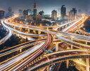 高速道路 夜景の壁紙輸入 カスタム壁紙 PHOTOWALL / Composition of the City (e310055)貼ってはがせるフリース壁紙(不織布)【海外取り寄せのため1カ月程度でお届け】【代引き不可】