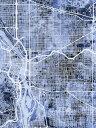 ポートランド 地図 水彩 青の壁紙 輸入 カスタム壁紙 PHOTOWALL / Portland Oregon City Map (e311439) 貼ってはがせるフリース壁紙(不織布) 【海外取り寄せのため1カ月程度でお届け】 【代引き不可】