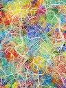 ローマ 地図 水彩 カラフル マルチカラーの壁紙 輸入 カスタム壁紙 PHOTOWALL / Rome Italy City Map (e311495) 貼ってはがせるフリース壁紙(不織布) 【海外取り寄せのため1カ月程度でお届け】 【代引き不可】