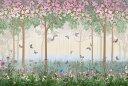 花 蝶 チョウ 自然の壁紙 輸入 カスタム壁紙 PHOTOWALL / Butterflies in Hazy Meadow (e317396) 貼ってはがせるフリース壁紙(不織布) 【海外取り寄せのため1カ月程度でお届け】 【代引き不可】