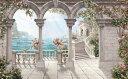 パティオ アンティーク ロマンチック 海 バラ 花 3Dの壁紙 輸入 カスタム壁紙 PHOTOWALL / Antique Patio (e317688) 貼ってはがせるフリース壁紙(不織布) 【海外取り寄せのため1カ月程度でお届け】 【代引き・後払い不可】