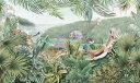 ジャングル 動物 ガゼル チーター カバ 緑 グリーンの壁紙 輸入 カスタム壁紙 PHOTOWALL / Jungle Insights (e324840) 貼ってはがせるフリース壁紙(不織布) 【海外取り寄せのため1カ月程度でお届け】 【代引き・後払い不可】