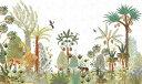 ジャングル ボタニカル トロピカル イラストの壁紙 輸入 カスタム壁紙 PHOTOWALL / Egypt Wilderness (e324154) 貼ってはがせるフリース壁紙(不織布) 【海外取り寄せのため1カ月程度でお届け】 【代引き・後払い不可】