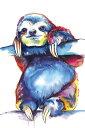 ナマケモノ 水彩画 イラストの壁紙 輸入 カスタム壁紙 PHOTOWALL / Sloth (e329057) 貼ってはがせるフリース壁紙(不織布) 【海外取り寄せのため1カ月程度でお届け】 【代引き・後払い不可】