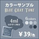 ブルーグレーのペンキ 《水性塗料》つや消し [イマジンブルーグレートーンペイント(パウチ カラーサンプル)Imagine Blue Gray Tone Paint] (1色につき一...