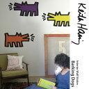 壁に貼ってはがせるステッカー [ウォールステッカーBLIK(ブリック)Barking Dogs(吠える犬)-アソート]キースへリング Keith Haring キース・ヘリング
