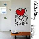 壁に貼ってはがせるステッカー [ウォールステッカーBLIK(ブリック)Untitled Heart (アンタイトルド・ハート)-Black/Red]キースへリング Keith Haring キース・ヘリング