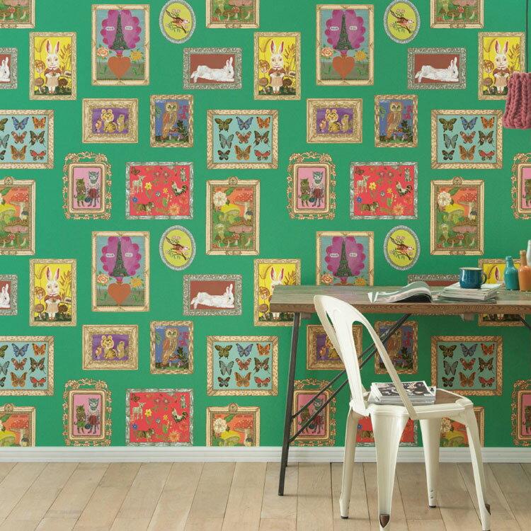 【 壁紙 のり付き 】生のり付き 壁紙 (クロス)(販売単位1m)Nathalie LETE ナタリー・レテの壁紙  SBB-8871