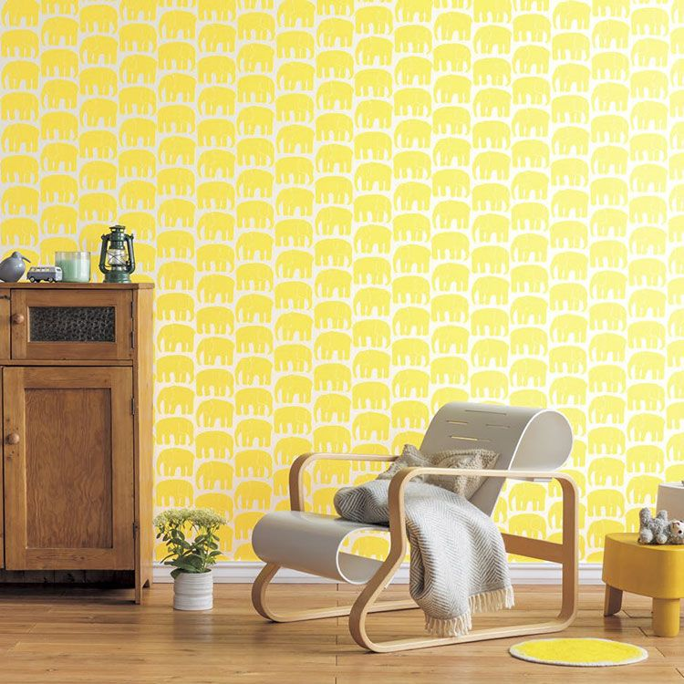 RoomClip商品情報 - 【 壁紙 のり付き 】生のり付き 壁紙 (クロス)(販売単位1m)フィンレイソンの壁紙 ELEFANTTI エレファンティ SFE-1317