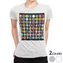ショッピング白 tシャツ レディース 半袖 白地 デザイン S M L XL Tシャツ ティーシャツ T shirt 008765 カラフル アイコン 卵 エッグ