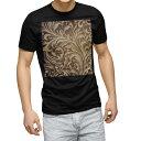 ショッピングマスク ピンク tシャツ メンズ 半袖 ブラック デザイン XS S M L XL 2XL Tシャツ ティーシャツ T shirt 黒 000407 ペイズリー ダマスク 花