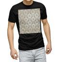 ショッピングマスク ピンク tシャツ メンズ 半袖 ブラック デザイン XS S M L XL 2XL Tシャツ ティーシャツ T shirt 黒 000774 ダマスク 模様