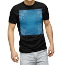 ショッピングマスク tシャツ メンズ 半袖 ブラック デザイン XS S M L XL 2XL Tシャツ ティーシャツ T shirt 黒 000795 ダマスク ブルー