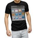 ショッピングphone tシャツ メンズ 半袖 ブラック デザイン XS S M L XL 2XL Tシャツ ティーシャツ T shirt 黒 000858 スマートフォン
