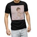 tシャツ メンズ 半袖 ブラック デザイン XS S M L XL 2XL Tシャツ ティーシャツ T shirt 黒 002797 人物 ベビー 写真