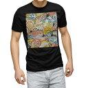 ショッピングTシャツ tシャツ メンズ 半袖 ブラック デザイン XS S M L XL 2XL Tシャツ ティーシャツ T shirt 黒 003436 ワッペン カラフル 外国