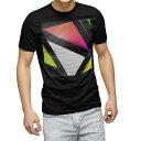 tシャツ メンズ 半袖 ブラック デザイン XS S M L XL 2XL Tシャツ ティーシャツ T shirt 黒 003531 シンプル カラフル 模様