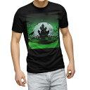 ショッピングハロウィン tシャツ メンズ 半袖 ブラック デザイン XS S M L XL 2XL Tシャツ ティーシャツ T shirt 黒 004761 ハロウィン イラスト