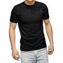 ショッピングテニス tシャツ メンズ 半袖 ブラック デザイン XS S M L XL 2XL Tシャツ ティーシャツ T shirt 黒 004831 テニス イラスト