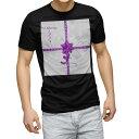 ショッピング雪 tシャツ メンズ 半袖 ブラック デザイン XS S M L XL 2XL Tシャツ ティーシャツ T shirt 黒 005629 リボン 雪 クリスマス