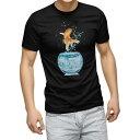 ショッピング金魚 tシャツ メンズ 半袖 ブラック デザイン XS S M L XL 2XL Tシャツ ティーシャツ T shirt 黒 006575 きんぎょ 写真 金魚
