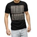 ショッピング本棚 tシャツ メンズ 半袖 ブラック デザイン XS S M L XL 2XL Tシャツ ティーシャツ T shirt 黒 007325 写真 セピア 本 本棚