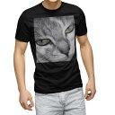 ショッピング写真 tシャツ メンズ 半袖 ブラック デザイン XS S M L XL 2XL Tシャツ ティーシャツ T shirt 黒 007896 写真 猫 ねこ モノクロ