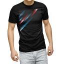 tシャツ メンズ 半袖 ブラック デザイン XS S M L XL 2XL Tシャツ ティーシャツ T shirt 黒 008492 デジタル 黒 ブラック 赤 青 模様