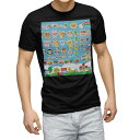 ショッピングおもちゃ tシャツ メンズ 半袖 ブラック デザイン XS S M L XL 2XL Tシャツ ティーシャツ T shirt 黒 008736 イラスト おもちゃ 子供
