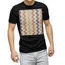 ショッピングブラック tシャツ メンズ 半袖 ブラック デザイン XS S M L XL 2XL Tシャツ ティーシャツ T shirt 黒 008853 模様 オレンジ 黄色 イエロー
