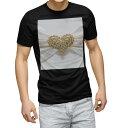 ショッピング写真 tシャツ メンズ 半袖 ブラック デザイン XS S M L XL 2XL Tシャツ ティーシャツ T shirt 黒 008933 ハート 白 ホワイト 写真