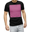 tシャツ メンズ 半袖 ブラック デザイン XS S M L XL 2XL Tシャツ ティーシャツ T shirt 黒 009066 シンプル 水玉 ドット ピンク