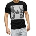 ショッピングクリスマスツリー tシャツ メンズ 半袖 ブラック デザイン XS S M L XL 2XL Tシャツ ティーシャツ T shirt 黒 010016 クリスマス ツリー 英語