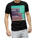 ショッピング写真 tシャツ メンズ 半袖 ブラック デザイン XS S M L XL 2XL Tシャツ ティーシャツ T shirt 黒 010219 レトロ 写真 ラジオ