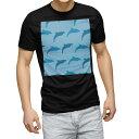 ショッピング半袖 tシャツ メンズ 半袖 ブラック デザイン XS S M L XL 2XL Tシャツ ティーシャツ T shirt 黒 010969 海 イルカ 青