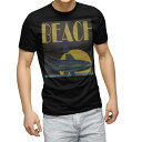 ショッピングサーフ tシャツ メンズ 半袖 ブラック デザイン XS S M L XL 2XL Tシャツ ティーシャツ T shirt 黒 011184 ビーチ 海 サーフ