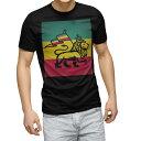 ショッピングLION tシャツ メンズ 半袖 ブラック デザイン XS S M L XL 2XL Tシャツ ティーシャツ T shirt 黒 011741 レゲエ 動物 ライオン