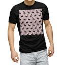 ショッピング鳥 tシャツ メンズ 半袖 ブラック デザイン XS S M L XL 2XL Tシャツ ティーシャツ T shirt 黒 011973 フラミンゴ ピンク 鳥
