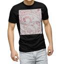 ショッピング半袖 tシャツ メンズ 半袖 ブラック デザイン XS S M L XL 2XL Tシャツ ティーシャツ T shirt 黒 012123 つた 模様 ピンク