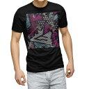 ショッピングシャツ tシャツ メンズ 半袖 ブラック デザイン XS S M L XL 2XL Tシャツ ティーシャツ T shirt 黒 012350 柄 ドット ストライプ