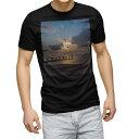 ショッピング写真 tシャツ メンズ 半袖 ブラック デザイン XS S M L XL 2XL Tシャツ ティーシャツ T shirt 黒 013534 写真 海 空