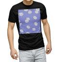 ショッピングblack tシャツ メンズ 半袖 ブラック デザイン XS S M L XL 2XL Tシャツ ティーシャツ T shirt 黒 013975 花 フラワー