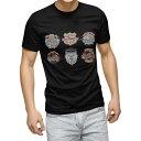 ショッピングイラスト tシャツ メンズ 半袖 ブラック デザイン XS S M L XL 2XL Tシャツ ティーシャツ T shirt 黒 014879 バイク イラスト クール