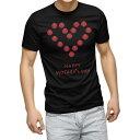 ショッピングカーネーション tシャツ メンズ 半袖 ブラック デザイン XS S M L XL 2XL Tシャツ ティーシャツ T shirt 黒 015278 母の日 バラ 花 母 カーネーション
