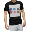 ショッピングランドセル tシャツ メンズ 半袖 ブラック デザイン XS S M L XL 2XL Tシャツ ティーシャツ T shirt 黒 015342 ランドセル 入学式 カラフル